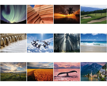 Monthly Scenes of Scenic Inspirational 2020 Appointment Calendars