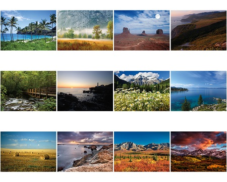 Monthly Scenes of North American Landscape 2020 Appointment Calendars