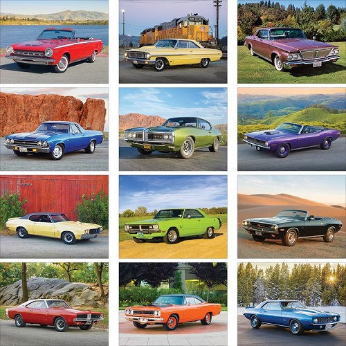 Monthly Scenes of Muscle Cars 2020 Calendar