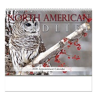 North American Wildlife 2020 Calendar Cover