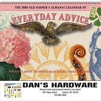 Everyday Advice Old Farmers Almanac Calendar Cover