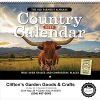 Old Farmers Almanac Country Calendar Cover