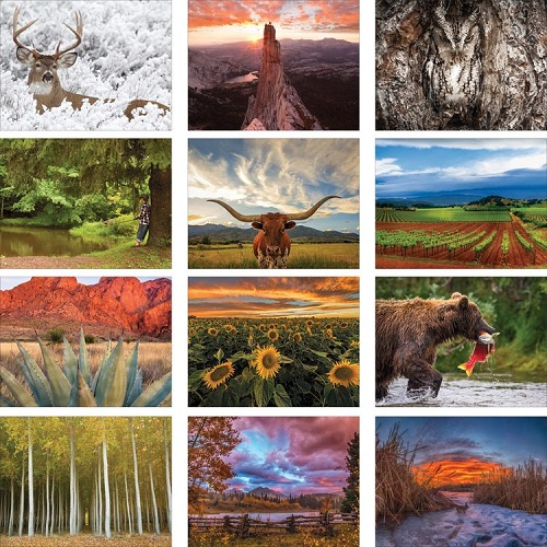 Monthly Scenes of Old Farmers Almanac Country Calendar