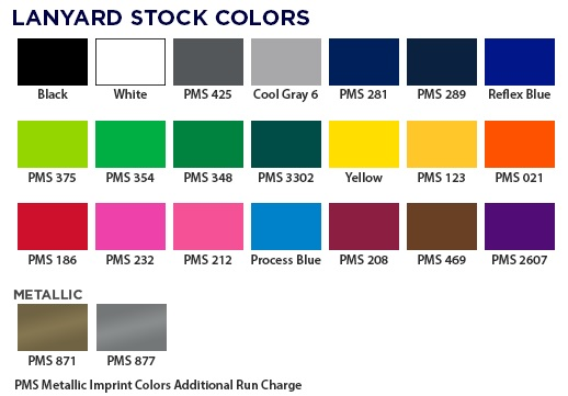 Lanyard Stock Colors