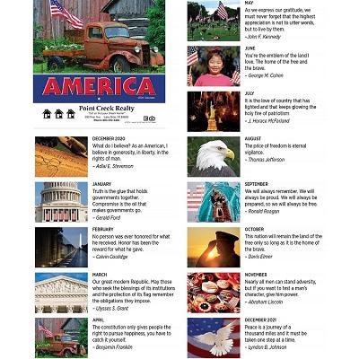 Monthly Scenes of America 2021 Scenic Calendars