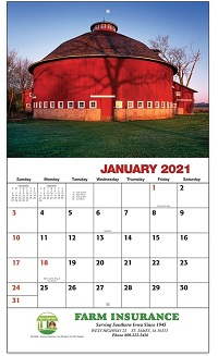 2021 American Agriculture Calendars