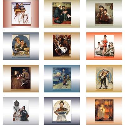 Monthly Scenes of American Illustrator 2021 Calendar