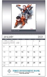 An American Illustrator 2021 Wall Calendar