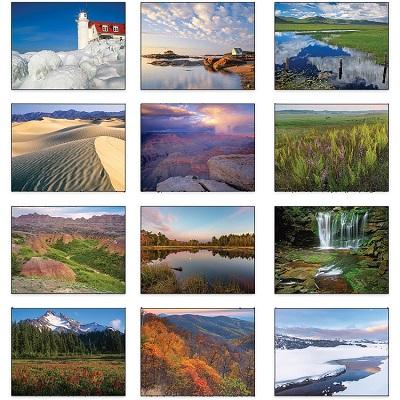 Monthly Scenes of American Scenic 2021 Calendar