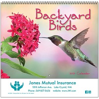 Cover of Backyard Birds 2021 Wall Calendars