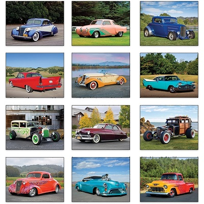 Monthly Scenes of Hot Rods Vehicle Calendars