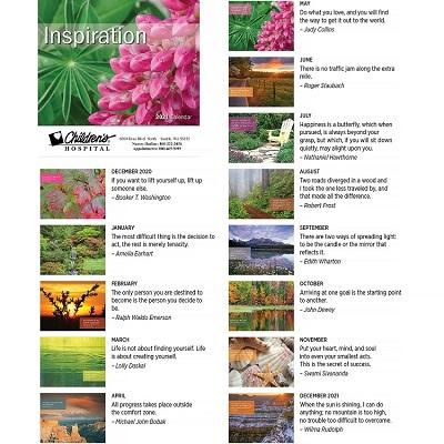 Monthly Scenes of Inspirational Calendars