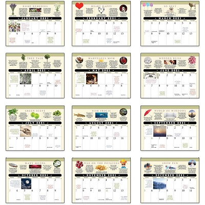 Monthly Scenes of Everyday Advice Old Farmers Almanac Calendars