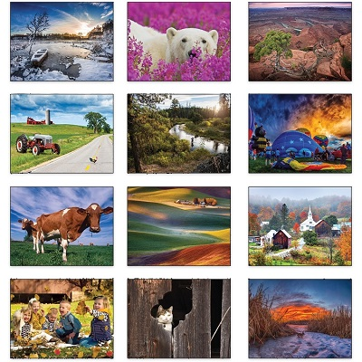 Monthly Scenes of Old Farmers Almanac Country 2021 Wall Calendars