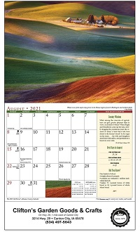 2021 Old Farmers Almanac Country Calendar