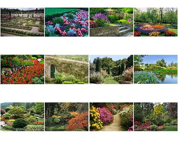 Monthly Scenes of Gardens 2021 Calendar