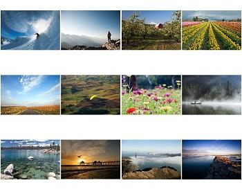 2021 Monthly Scenes Inspirational Calendar
