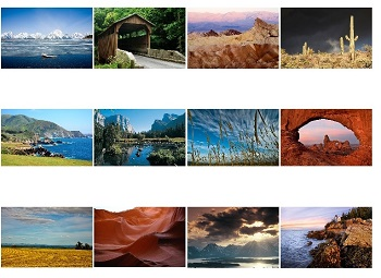 Monthly Scenes on 2021 Landscapes Calendar